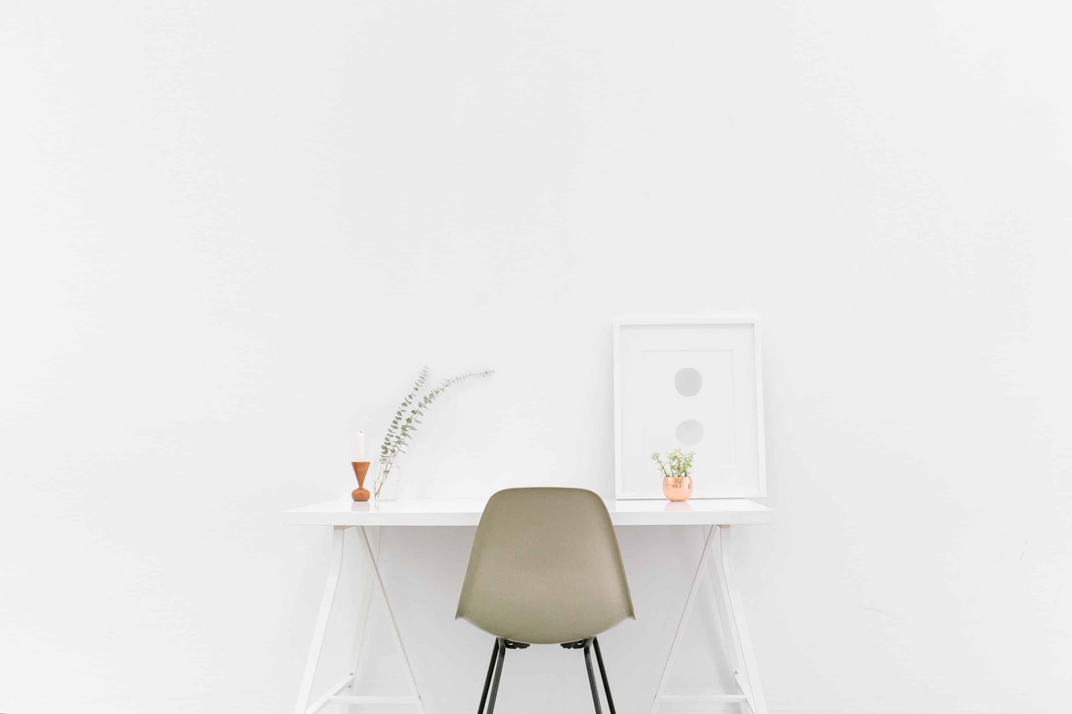 minimalist office space