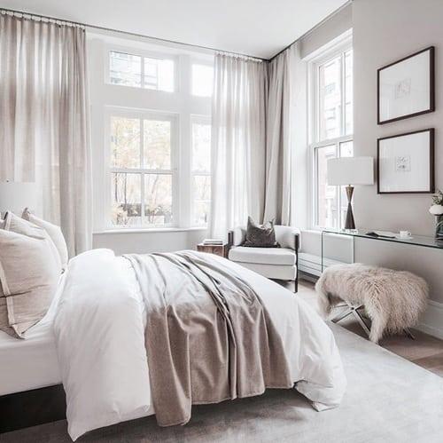 white minimal cozy room