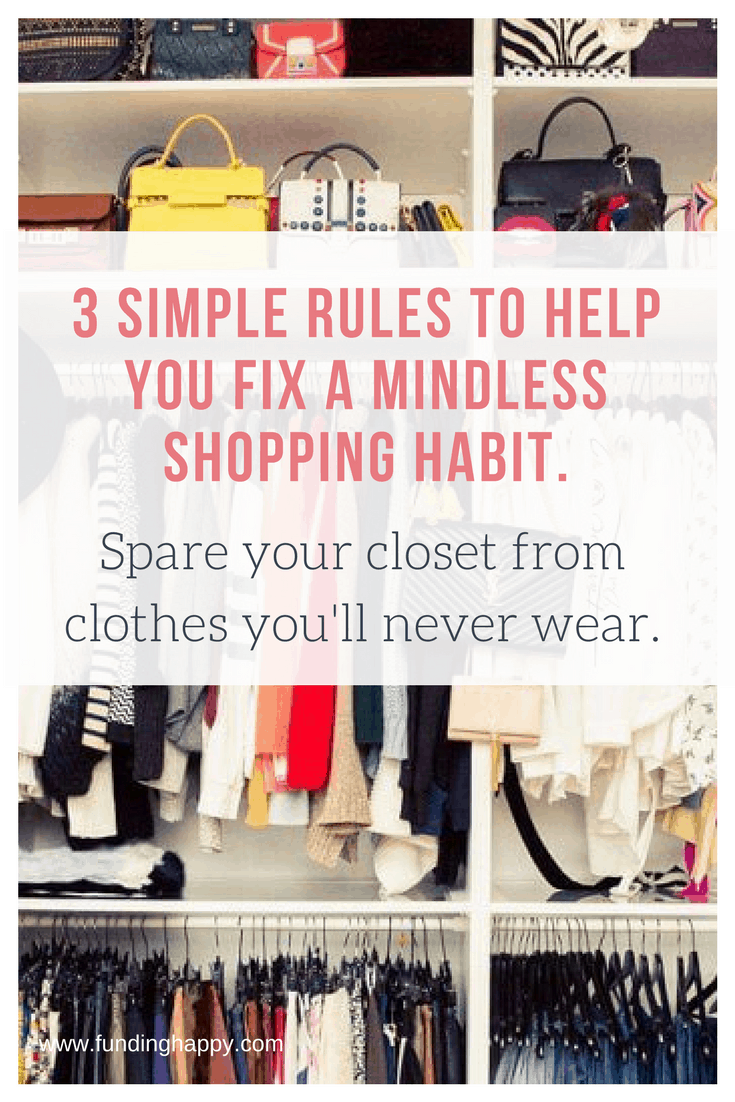 how to stop mindless shopping
