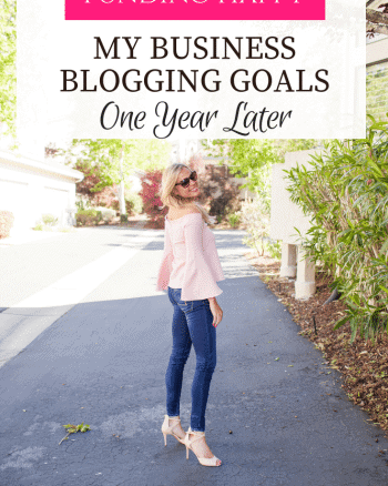 full time blogging goals