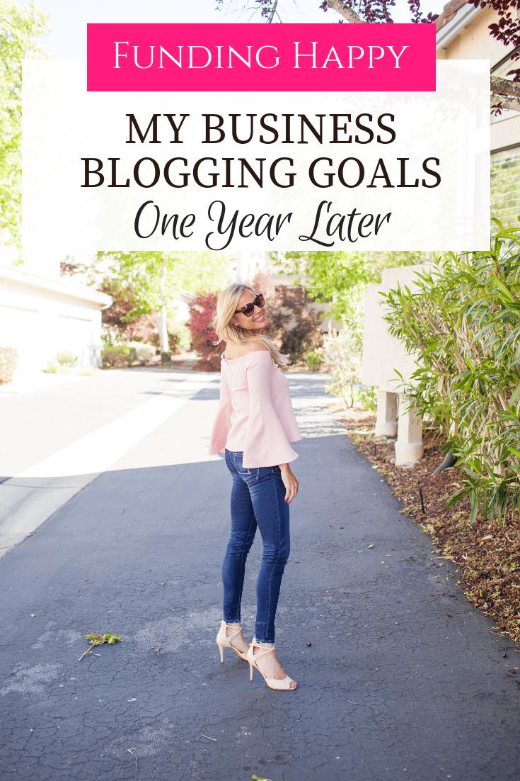 full time blogging goals
