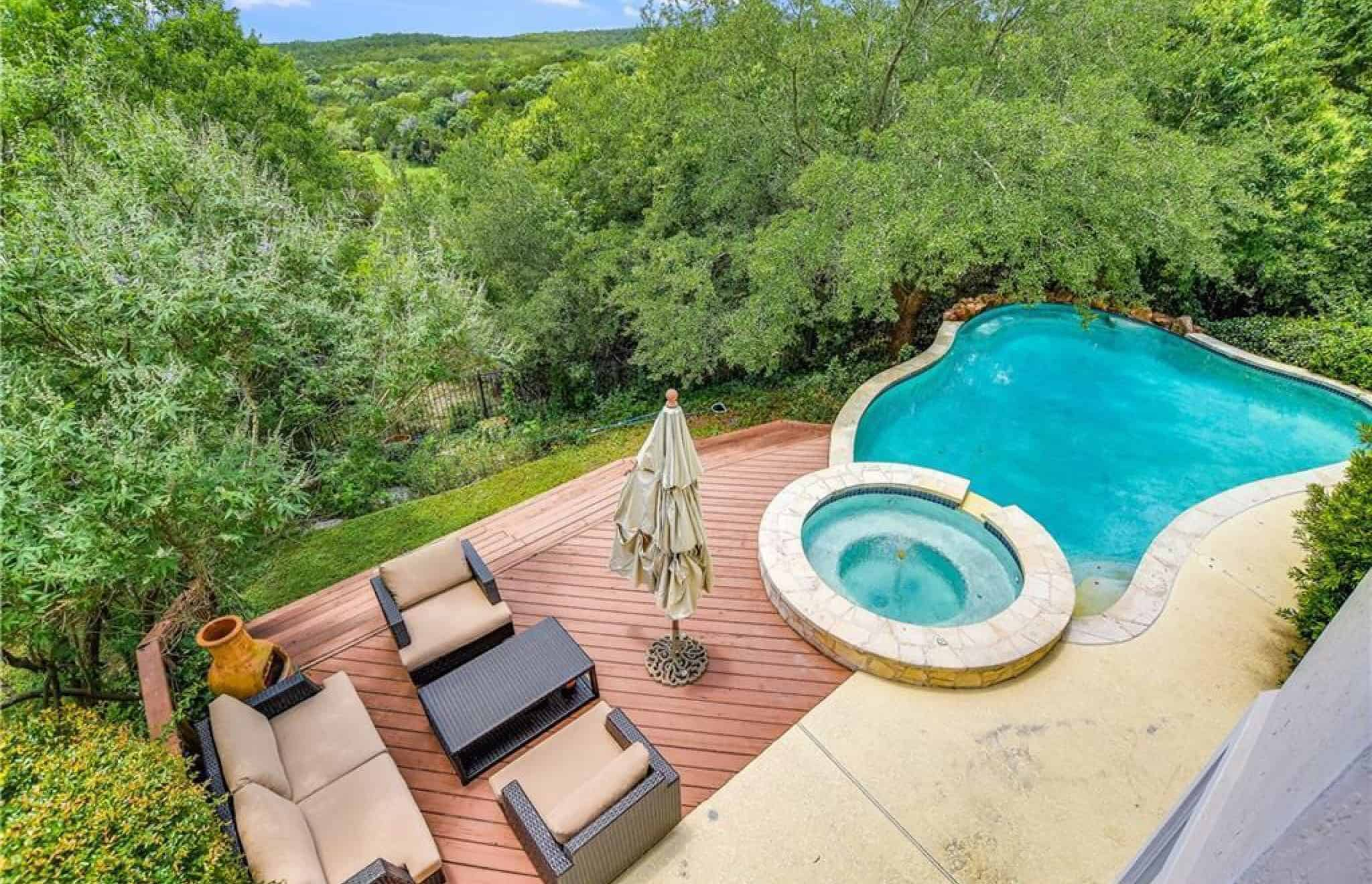 our texas backyard with pool